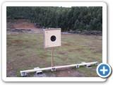 Pine faced target frames